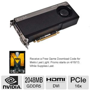 EVGA GeForce GTX 660 2GB GDDR5 Video Card