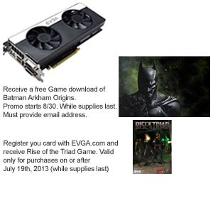 EVGA Geforce GTX 670 FTW Signature 2 Video  REFURB