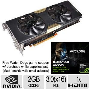 EVGA GeForce GTX 770 Superclocked Video Card