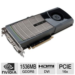 EVGA GeForce GTX 480 (Fermi) 1536MB GDDR5