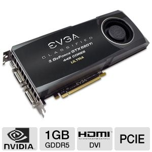 EVGA GeForce GTX 560 Ti 448Cores Classified 1280MB