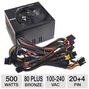 EVGA 500B 500 Watt Bronze Power Supply Unit