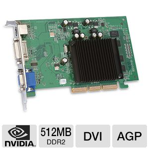 EVGA GeForce 6200 512MB DDR2 AGP w/DVI & VGA