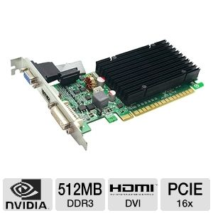 EVGA GeForce 8400 GS 512MB DDR3 Passive Cooling