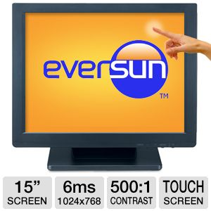 "Eversun 15"" Class 1024x768 Touchscreen LCD Monitor"