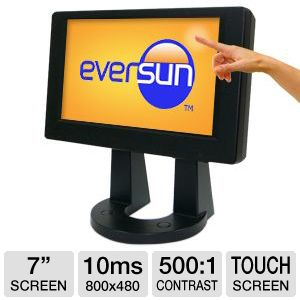 "Eversun 7"" Class 800x480 Touchscreen LED Monitor"