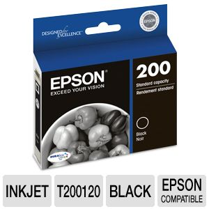 Alternate view 1 for Epson 200 Black Ink Cartridge