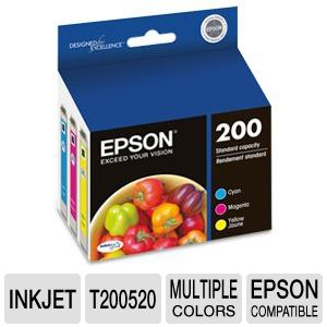 Epson 200 Multi-Pack Color Ink Cartridges