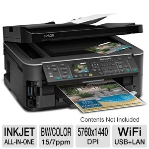 Epson WorkForce 635 Wireless All-in-One w/ Duplex