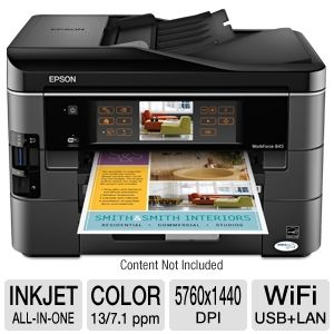 Epson WorkForce 845 WiFi All-in-One w/ Duplex