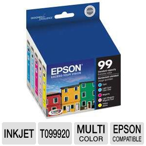 Epson 99 T099920 Multi-Pack Color Ink Cartridges