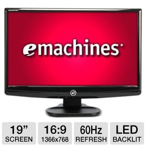 "eMachines E182HL bm 19"" Widescreen LED Monitor"
