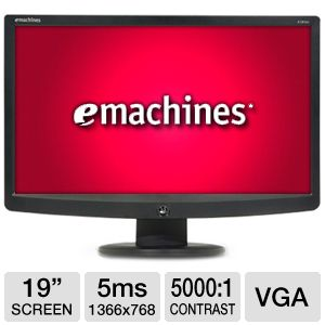 eMachines E181HVb 19&quot; Widescreen LCD Monitor