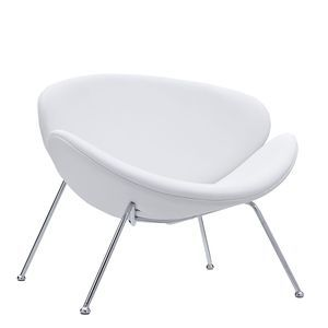 Nutshell Lounge Chair in White