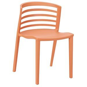 Curvy Dining Side Chair in Orange