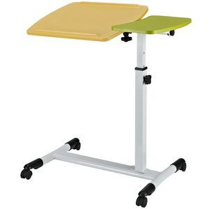 Vibrant Laptop Stand in White Green Yellow