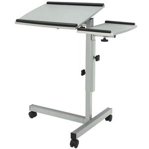 Mobile Laptop Stand in Gray Black