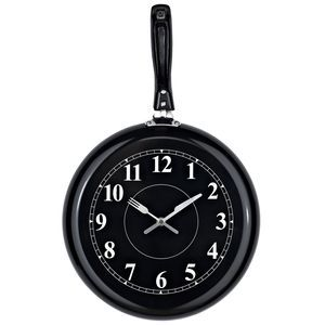 Pan Wall Clock in Black