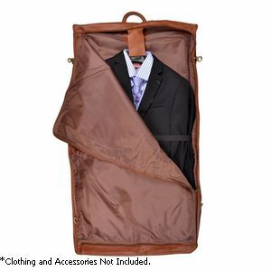 'Fletcher' Carry-On All Leather Suiter - 659-TAN-3