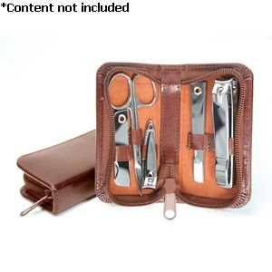 Aristo Italian Bonded Leather Mini Manicure Set -