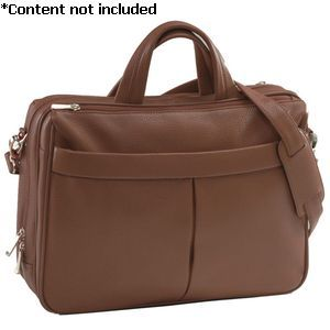 'Blair' Laptop Briefcase - 643-BROWN-4