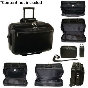 Executive Rolling Laptop Briefcase