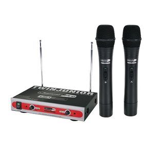 JAMMINPRO DUAL VHF WIRELESS MIC SYSTEM