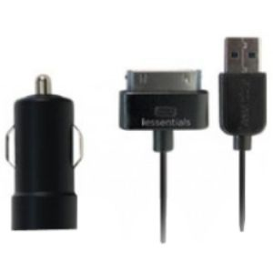 iEssentials USB Car Charger with Apple iPod & iPho