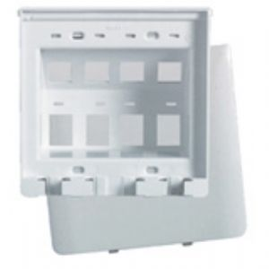 On-Q/Legrand 8 Socket Hide-A-Port Faceplate