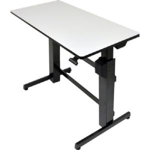 Ergotron WorkFit-D, Sit-Stand Desk (Light-Grey Sur