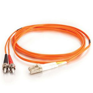 C2G Fiber Optic Duplex Patch Cable with Clips