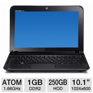"Dell 10.1"" Atom 250GB Refurbished Netbook REFURB"