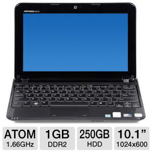 "Dell 10.1"" Atom 250GB Refurbished Netbook"