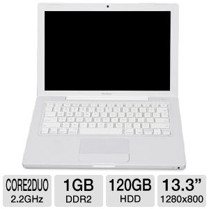 "Apple MB062LL/B 13.3"" Core 2 Duo 120GB Macbook"