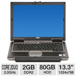 "Dell 14.1"" Core 2 Duo 80GB HDD Notebook REFURB"