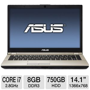"ASUS U46E 14.1"" Core i7 750GB HDD Notebook"