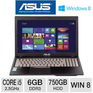 ASUS Q500A 15.6 in. Core i5 750GB HDD Laptop