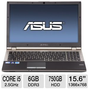 ASUS 15.6&quot; Core i5 750GB HDD Notebook