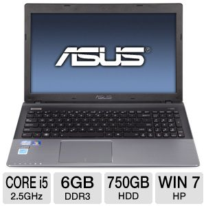 "ASUS U57A 15.6"" Core i5 750GB HDD Laptop"