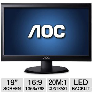 AOC e950Swn 19&quot; Class LED Monitor