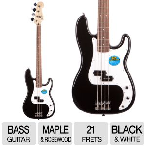 Fender Squier Black/White Bass Starter Kit