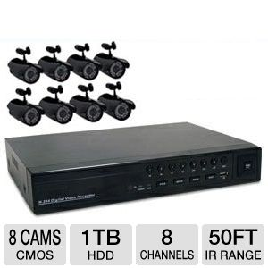 First Alert 420TVL 8-Camera Security Kit 1TB HDD