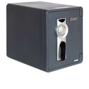 First Alert Waterproof Gray Combination Safe