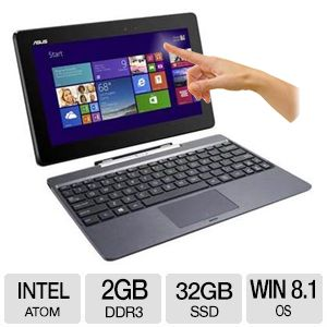 "ASUS 10.1"" Quad Core 32GB SSD 2-In-1 Notebook"