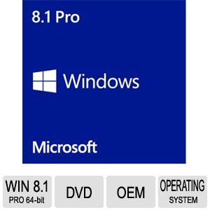 Windows 8.1 PRO 64-bit OS DVD