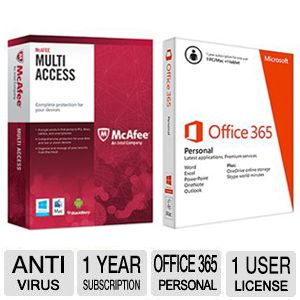 Office 365 Personal w/ McAfee Multi-Access Bundle