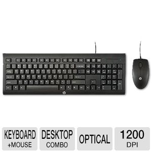 HP C2500 Wired Desktop Keyboard & Mouse