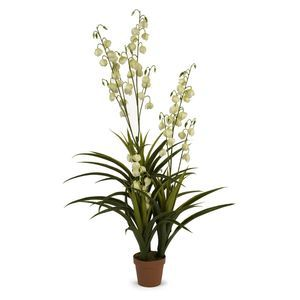 IMAX Worldwide 4 Inch Height Yucca in Bloom
