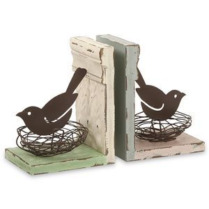 IMAX Worldwide Davis Bird Nest Bookends