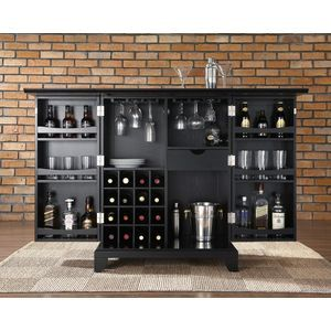 Crosley Furniture Newport Bar Cabinet in